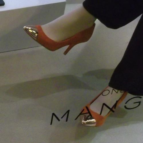 Mango női cipő - aranyorrú magassarkú cipő