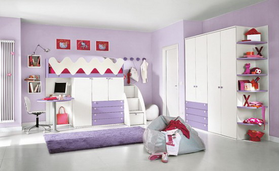 Beautiful Peinture Chambre Fille Mauve Gallery - Amazing House
