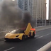 OMG! Lamborghini Engulfed In Flames On The Streets Of Dubai (Photos)