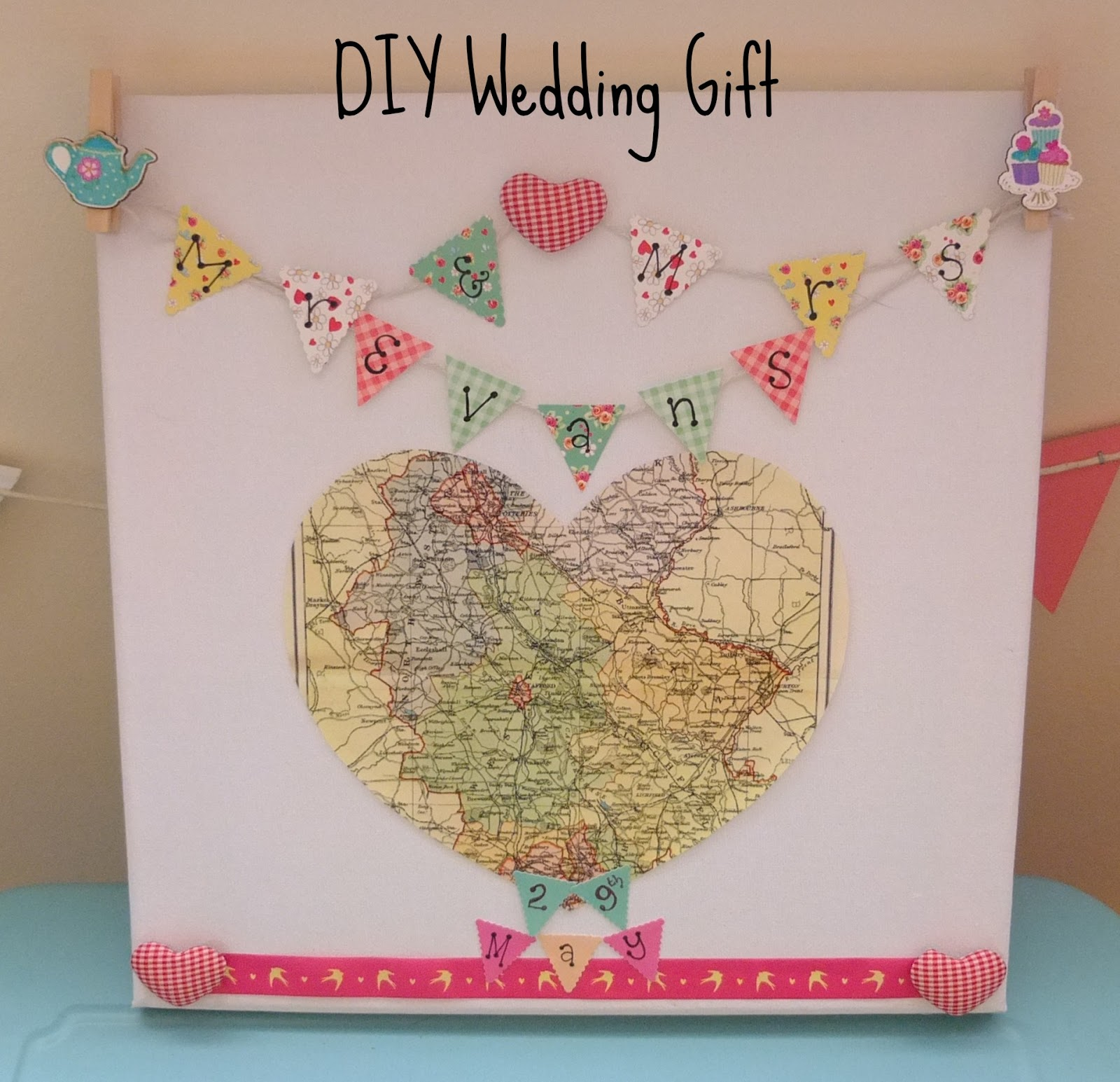 DIY Wedding Gift on a Budget - Hello, Terri Lowe
