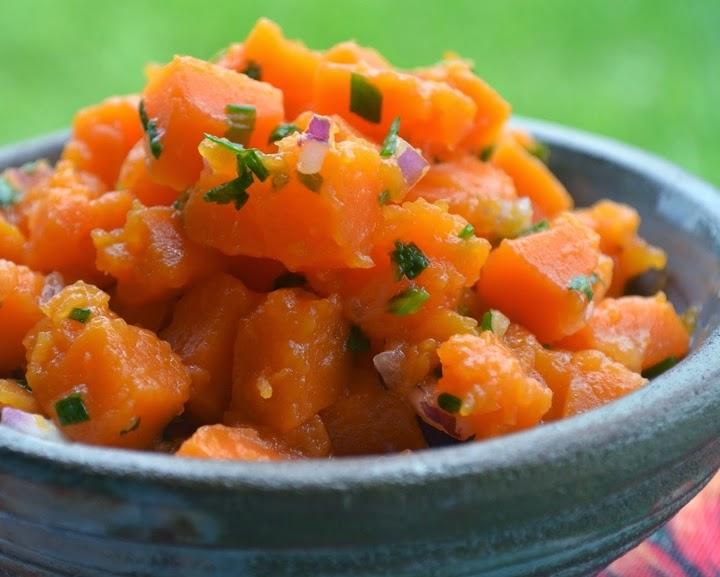 Salada de Abóbora-Moranga (vegana)