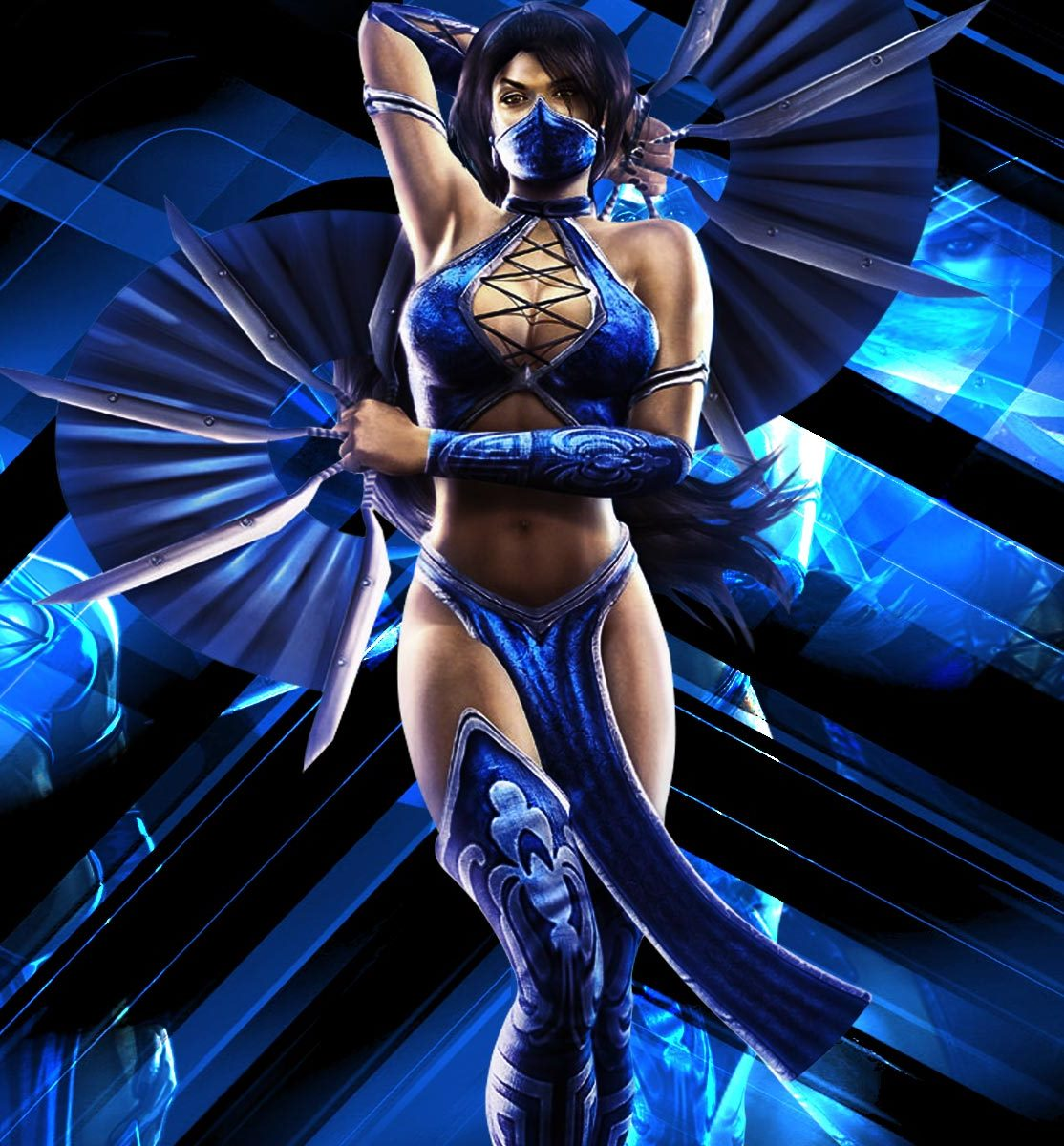 Here are a few images of kitana from the game and promotional graphics