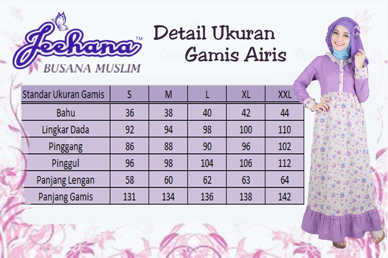 Baju Muslim Terbaru 2017 Online Gamis Airis Jeehana