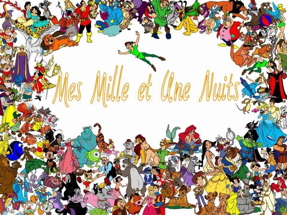 walt disney avec tous les dessins animés du XXe siècle