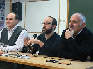 David Íñiguez donant la seva xerrada a l'AEROTECA.