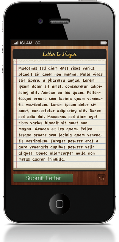 Letter to Huzur