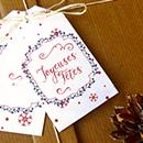 Printable étiquettes cadeau pour Noël