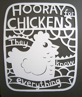 A papercut chicken