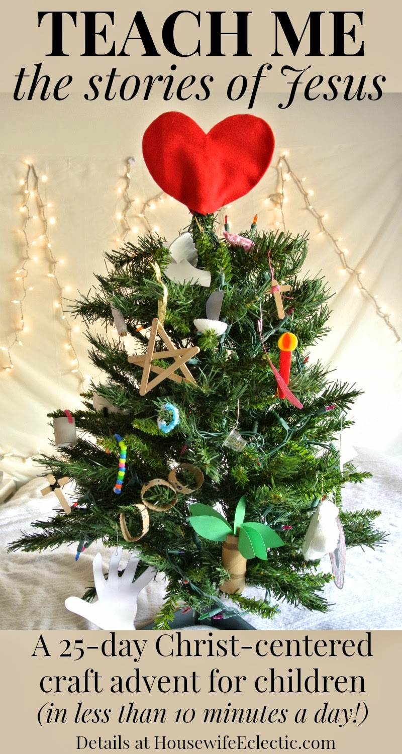Housewife eclectic a christ centered christmas craft for Christmas crafts for young children