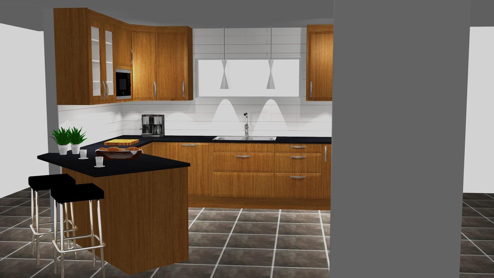 Louise och Thomas bygger stuga!: Nya köksritningar