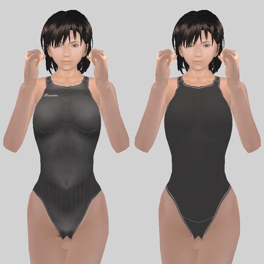 新旧競泳水着の違い(前面)
