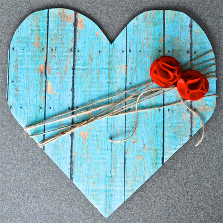 A happy song faux wood heart for Wooden hearts for crafts