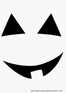Caras de calabaza de halloween