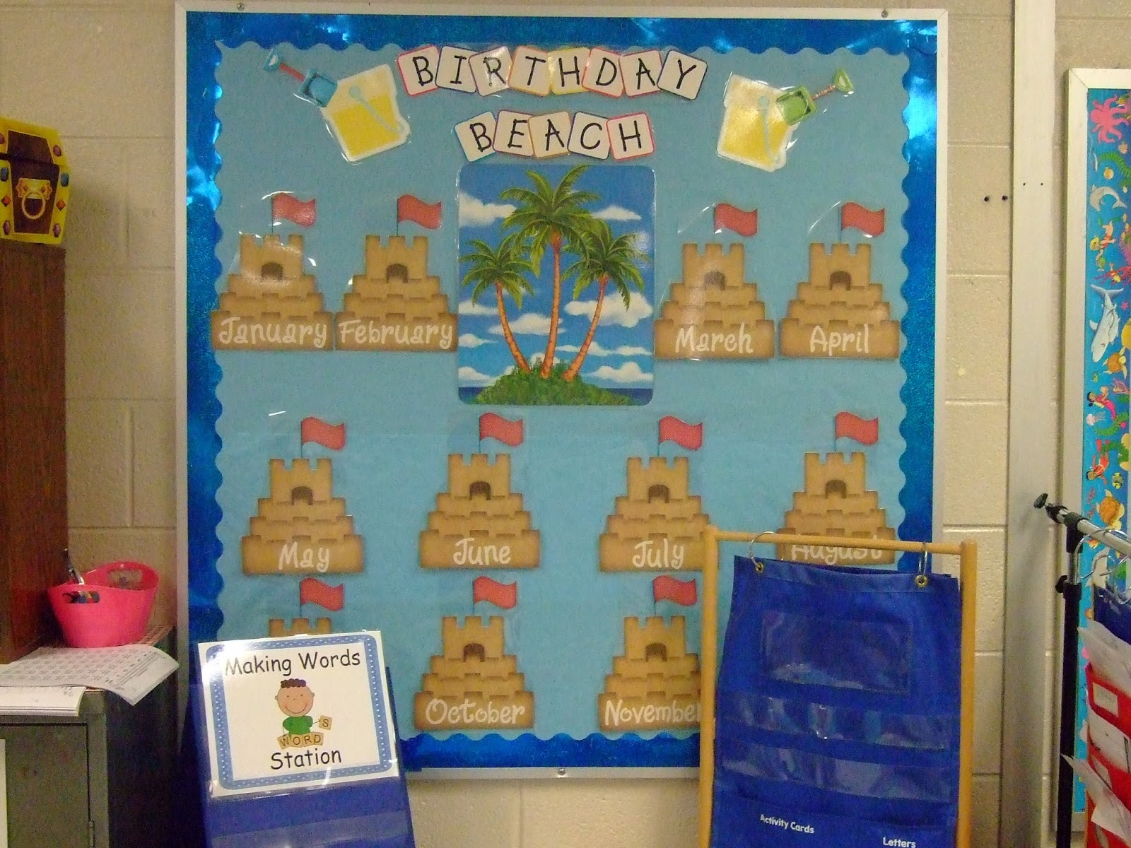Classroom Birthday Party ~ Sandy s learning reef take a tour inside my ocean themed