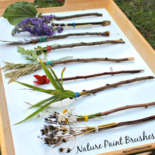 How to make nature paintbrushes