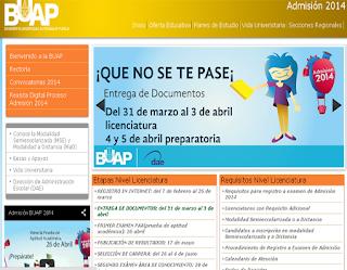 Registro Admisión BUAP 2014 Preparatoria Licenciatura Ingenieria Ciencias Administración Carreras Técnicas publicacion registro 10 de Agosto