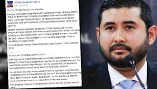 Hanya Sultan Johor dan saya tahu keseluruhan cerita – TMJ