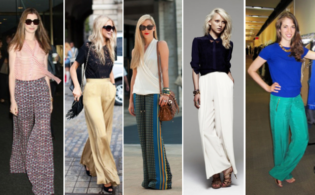 Imperfect Polish: Loving Wide Leg Silk Trousers
