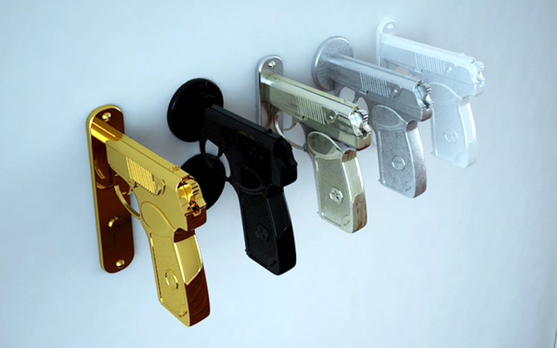 Gun-Shaped Doorknobs Function Like A Real Pistol: Pulling The ...