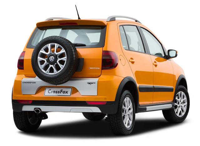 VW CrossFox 2013 - laranja