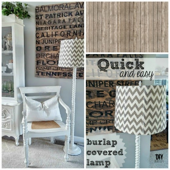 DIY beautify blog How to cover a lampshade with burlap