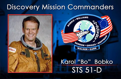 Karol Bo Bobko 1985 (STS-51-D). NASA 2012.