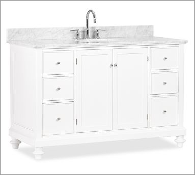 Barn House Sink : Pottery Barn Classic Turned-leg Sink Consoles Decor Look Alikes