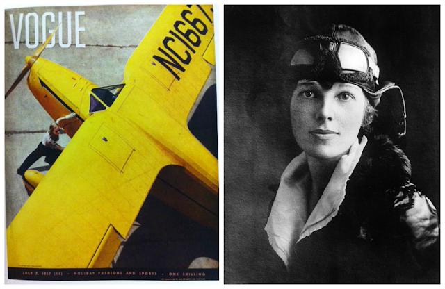 aeroplane, 1930's, amelia earhart, vintage vogue