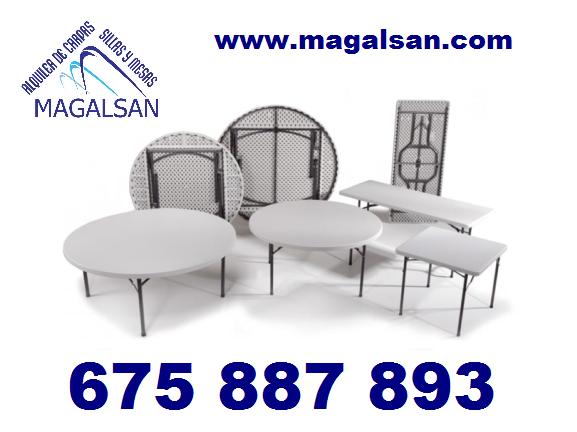 alquiler de sillas y mesas en Jaen