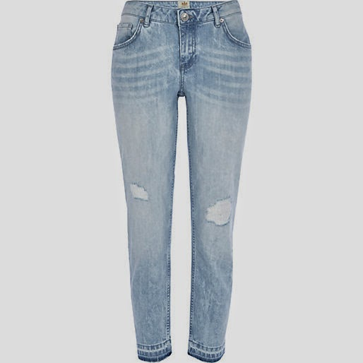 river island bleached jeans