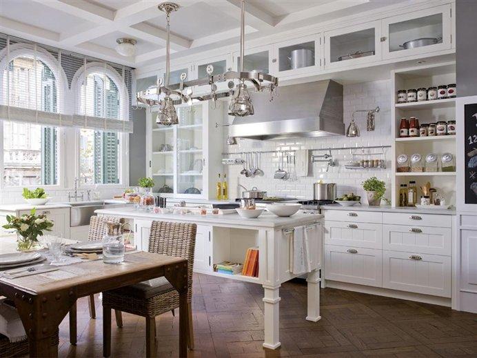 BLANCO ROTO  shabby chic  vintage cocinas espectaculares