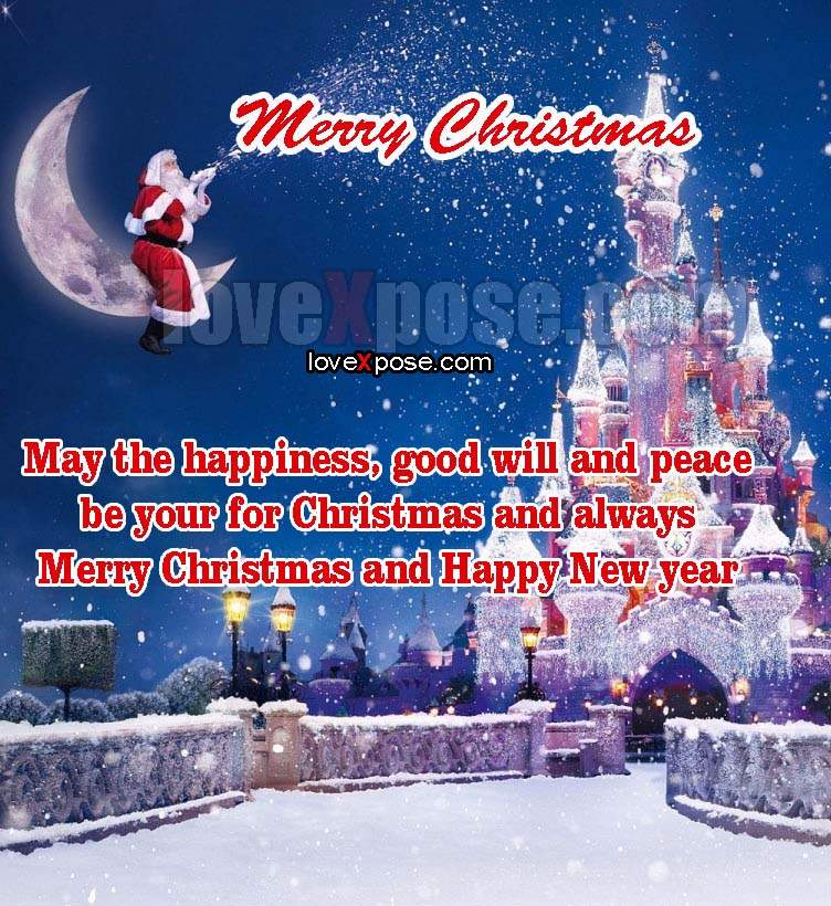 Happy Christmas photo greetings card