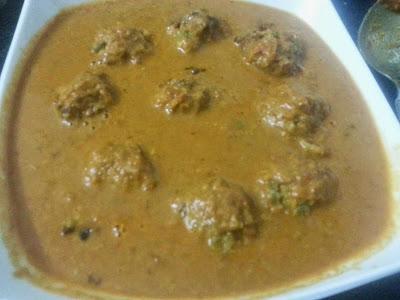 Yam(Chena) kofta curry - Sasi's Cuisine