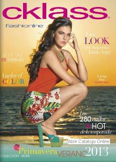 catalogo de ropa cklass PV 2013