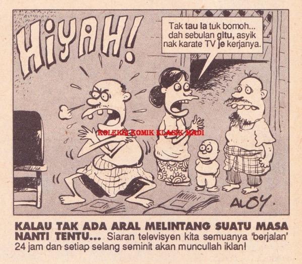 Apa yang digambarkan kartunis Gila-Gila pada tahun 1993 kini menjadi realiti