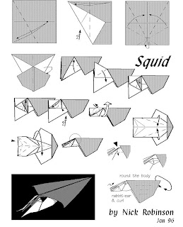 Origami Instruction: Squid Origami