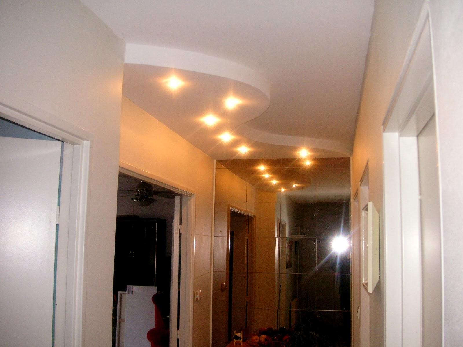 Faux plafond avec 6 spots d coration platre maroc faux plafond dalle arc platre - Decor platre pour cuisine ...