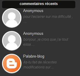 commentaires blogger, blogspot, widget, astuces