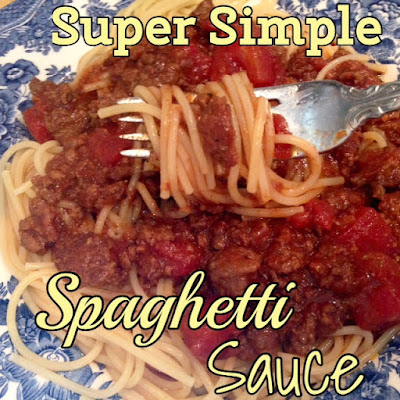 Super Simple Spaghetti Sauce