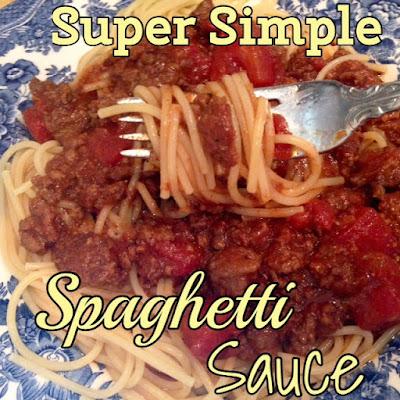 Super Simple Spaghetti Sauce