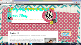 A screenshot of Carly's blog