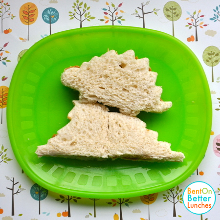 Stegosaurus Dinosaur Sandwich by Bent On @BetterLunches