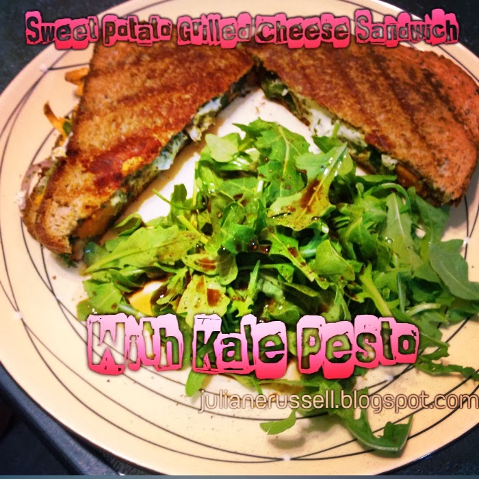 ... Girl Inside Me: Sweet Potato Grilled Cheese Sandwich with Kale Pesto
