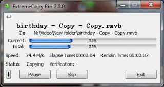cara copy paste lebih cepat dengan software extremecopy