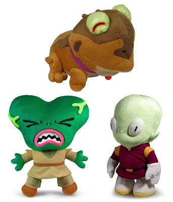 Futurama Series 2 Plush Figures by Toynami - Hypnotoad, Morbo the Annihilator & Lieutenant Kif Kroker