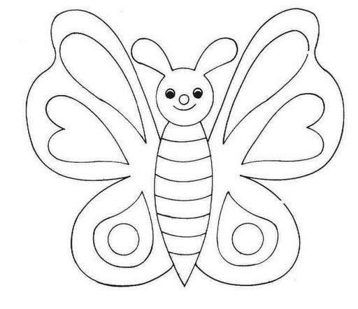 Листики шаблоны бабочек