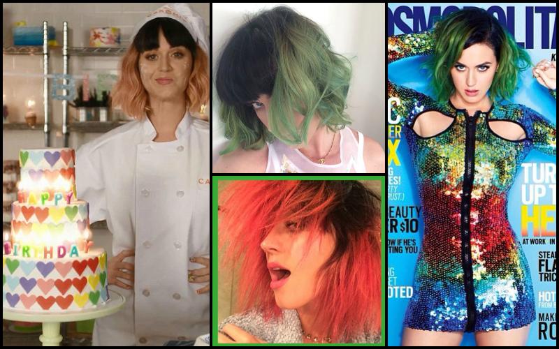 5 celebrities pastel hair capelli lavander Katy Perry