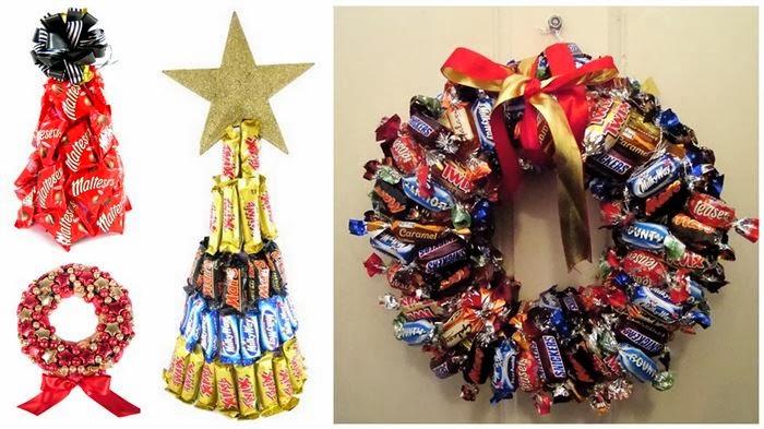 Hermoso adornos navide os con caramelos manualidades for Manualidades para adornos navidenos