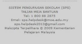 SPS Sistem Pengurusan Sekolah