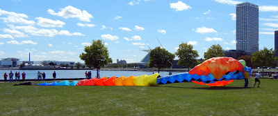 At the Milwaukee Kite Festival in downtown Milwaukee, Wisconsin